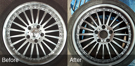 alloy wheel before and after